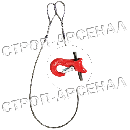 """Строп с плавающим """"Чокерным"""" крюком 5,0т"""