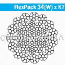 Стальной канат FlexPack 34(W) x K7 d15
