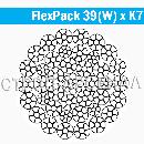 Стальной канат FlexPack 39(W) x K7 - WSC d46