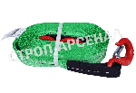 """Текстильный буксировочный трос - 33,5т """"Крюк-Крюк"""""""
