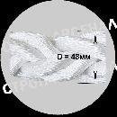 Рывковый полиамидный буксировочный трос - 33,6т