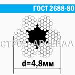 Канат стальной ГОСТ 2688-80 / 4,8 мм