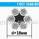 Канат стальной ГОСТ 7668-80 / 18 мм